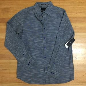 Tavik Gray Long Sleeves Button Down Shirt